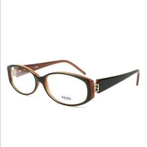 Authentic Fendi khaki Brown Eye Glasses RX